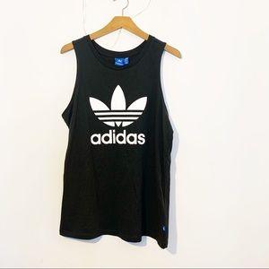 Adidas Originals Trefoil Logo Black Tank Top